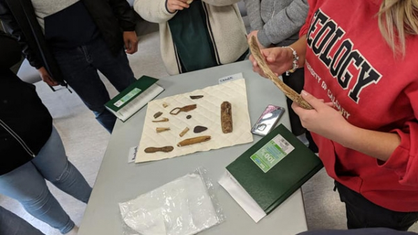 Artifacts shown to climate change youth delegates found in western arctic. Photo courtesy of Ecology North